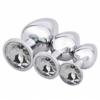 Akstore Jewelry Design Stainless Steel Butt Plug Set White