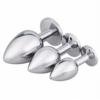 Akstore Jewelry Design Stainless Steel Butt Plug Set White bottom