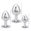 Akstore Jewelry Design Stainless Steel Butt Plug Set dimensions