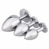 Akstore Jewelry Design Stainless Steel Butt Plug Set sizes