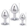 Akstore Light Green Jewelry Design Stainless Steel Butt Plug Set dimensions