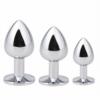 Akstore Light Green Jewelry Design Stainless Steel Butt Plug Set sizes