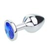 Blue Jeweled Beginners Butt Plug
