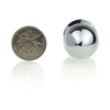 Blue Jeweled Beginners Butt Plug size with coin