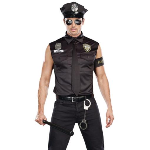 Dreamgirl Men's Dirt Cop Officer Ed Banger Costume