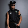 Dreamgirl Men's Dirt Cop Officer Ed Banger Costume wall