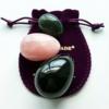 Drilled Gemstone Yoni Eggs by Polar Jade