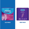 Durex Extra Sensitive Natural Latex Condoms old and new pack