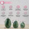 Green Hellu Jade Yoni Eggs – Predrilled Jade Egg Set of 3 benefits