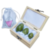 Green Hellu Jade Yoni Eggs – Predrilled Jade Egg Set of 3
