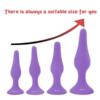 Hisionlee 4pcs Anal Plug Set Purple sizes