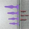 Hisionlee 4pcs Anal Plug Set Purple super suction