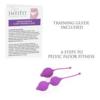 IntiFit Premium Kegel Exercise Weight Training Set training guide