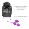 IntiFit Premium Kegel Exercise Weight Training Set with pouch