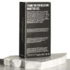 L. Ultra Thin Vegan-Friendly Lubricated Latex Condoms back of box