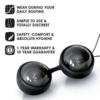 LELO Luna Beads Noir Luxury Ben Wa Balls features