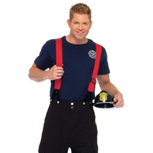 Leg Avenue Men's 3 Piece Fire Captain Costume