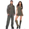 Leg Avenue Men's Top Gun Flight Suit Costume couple