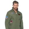Leg Avenue Men's Top Gun Flight Suit Costume zoom