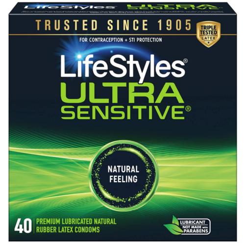 LifeStyles Ultra Sensitive Condoms 40 Ct