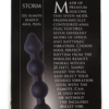 Master Series 7 Speed Silicone Beaded Anal Vibrator label