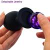 Silicone Jeweled Anal Butt Plug Trainer Set detachable jewelry