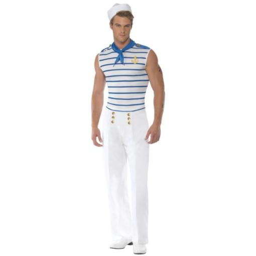 Smiffy's Men's Male Sailor Costume