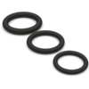 Super Soft Black Cock Ring Set from top