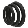 Super Soft Black Cock Ring Set