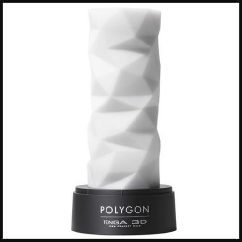 TENGA POLYGON 3D Sleeve Male Masturbator on stand