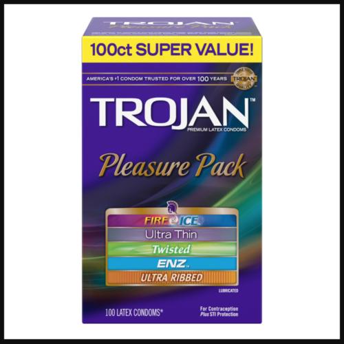 TROJAN Pleasure Pack Condoms 100 count