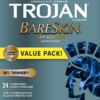 Trojan Bareskin Lubricated Latex Condoms