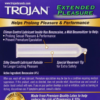 Trojan Extended Pleasure Condoms with Climax Control Lubricant back zoom
