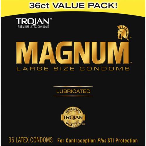 Trojan Magnum Large Size Condoms 36 Count front