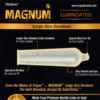 Trojan Magnum Large Size Lubricated Condoms 12 Count back zoom