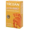 Trojan Stimulations Ultra Ribbed Lubricated Condoms
