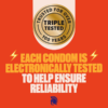 Trojan Ultra Ribbed Lubricated Condoms electronically tested