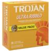 Trojan Ultra Ribbed Lubricated Condoms
