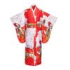Yukata Japanese Traditional Satin Kimono Robe