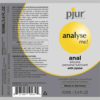 pjur Analyse Me Silicone Based Anal Lubricant label