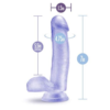B Yours Realistic Clear Glitter Dildo dimensions
